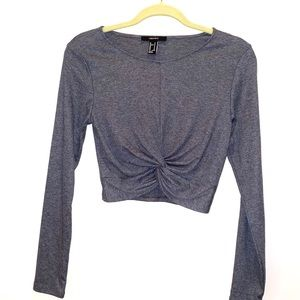 Forever 21 crop top gray